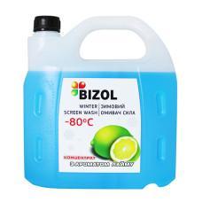 Зимний омыватель (концентрат), аромат Лайма - BIZOL WINTER SCREEN WASH -80C, 4Л