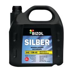 Минеральное моторное масло -  BIZOL SILBER 15W-40 4л