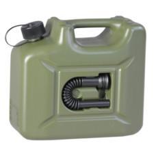 Пластиковая канистра для топлива Hunersdorff (оливковая) 10 л.
